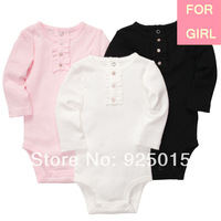 3pcs/set,Lastest 2014 Carter's Baby Girl Cotton Long-sleeve Bodysuit Infant Fall Winter Thick Clothes,Newborn 3 9, In Store, YW
