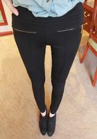 Fashion 2014 Spring and autumn women pants elastic slim zipper leggings gladiator pants trousers