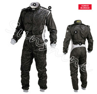 2014 Black and White OMP Auto Cardin / drift piece racing suit / racing coveralls  (2-layers of None Fire Proof)