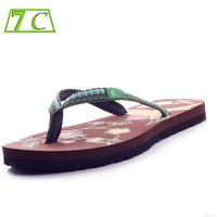 New 2014 Flat Flip Flops Women Summer Shoes Sandals  Women's Shoes Sweet with Printing Flower Women Sandals for Women Flip Flops
