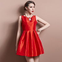 2014 New Spring Women Fashion Star Style Dress High Quality Lace Sexy Deep V-neck Hollowed Out Back Bow Short Evening Dress