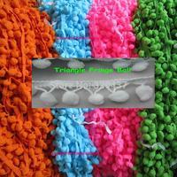 Triangle Ball fringe Pompon trim Ball lace ribbon,flower lace applique 2CM