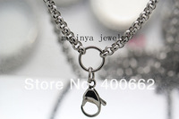 20pcs 20''  3.8mm width 316L Stainless steel rolo O ring chain for  floating charm glass locket  keepsake,no locket