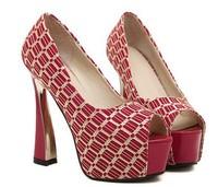 Free shipping! high quality 2014 fashion lady high heels shoe princess single shoes women thick pimps shoes