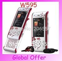 W595 Original Sony Ericsson W595 3G Bluetooth JAVA FM Camera Unlocked Mobile Phone Cheap Cell Phone 1 year warranty  Refurbished