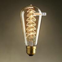 New Arrival Vintage Christmas Tree Edison Light bulb,60W,E27,220V,DIY Handmade Fixture,Best Gift For Friend