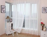 Free Shipping Hot sale ~ wholesale 200cm*280cm europe gauze curtain white color, voile curtains