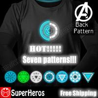 NEW 2014 fashion mens brand cotton novelty luminous tee t-shirts male short sleeve man casual clothing plus size XXXL Iron Man