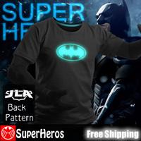 NEW 2014 fashion mens brand cotton novelty luminous tee t-shirts male short sleeve man casual clothing plus size XXXL Batman