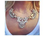2014 European Women Fashion Jewelry Choker Bib Statement Necklace Lady Chain Pendant Cluster luxury simulated gemstone necklace