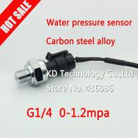 Wholesale 0 ~1.2MPa Water pressure sensor, G 1/4 Gas pressure sensor & free shipping