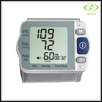 Household Digital Wrist Blood Pressure Monitor Heart Beat Meter Sphygmomanometer  tonometer health monitors