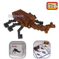 Rhinoceros Beetle LOZ Diamond Nano Mini Building Blocks Enlighten Bricks Figure Brick For Children / Learning Education Toys