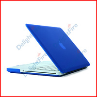 "Dark Blue Rubberized Back Case Cover Housing For Macbook Pro 13.3"" inches A1278 Free Shipping"