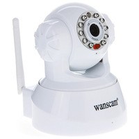 WANSCAM White Dual Audio IR Cut Wireless Wifi Pan/Tilt Rotate IR Infrared CCTV Security Internet Network IP Camera Baby Monitor