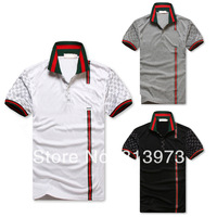 Free Shipping 2014 Summer New Fashion Slim Casual Men's Shirt 100% Cotton Polo Shirt Lapel Camisa 3 Colors Size ML XL XXL