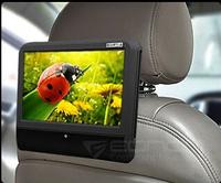 """9"""" Portable Touch Screen Car Headrest DVD Player , 32bits Games+DVD+USB/SD+IR/FM+800*480, Headrest PC Pillow Monitor"""