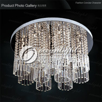 Crystal Pendant Ceiling Lamp Luster Modern Crystal Ceiling Light Fixture Dia60 H28cm OAL003W