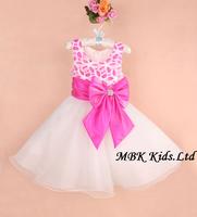 Wholesale (5 Pcs/lot) 6 Colors Baby Girl's Party Dresses Sleeveless Bowknot Kids Evening Dress Flower Children Dress