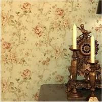 Vintage Floral Wallpaper for walls Fashion imported retro papel de parede listrado tapete mural decorative bedroom living room
