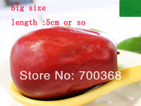 Freeshipping big size Chinese Xinjiang red Jujube , Premium  he tian red date ,  dried fruit 500G/bag, 1bag/lot