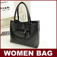 New Fashion Cheap Korean Style Women Casual Shoulder Bag Soft PU Plaid Fashionable Handbag Criss-Cross Figure Totes for Ladies
