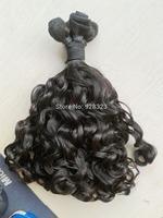 Funmi Hair Grade 6A  Natural Colour virgin cambodian bouncy curl hair human hair weave for your nice 4pcs/bundle