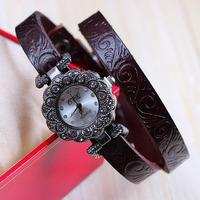 8 colors New Fashion Leather Strap Watches Women Rhinestone Watch Women Dress Watch 1piece/lot