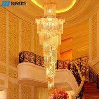 free shipping Modern brief stair lamp long pendant light stair lamp crystal pendant light large pendant light