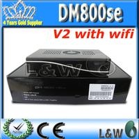 2pcs/lot Newest product dm800se v2 wifi dm800hd se Wifi 1GB Flash 512MB RAM Sim2.20 DM800hd se Wifi v2 HbbTV SSL88 Free Shipping