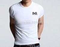 wholesale New Fashion Men T Shirt Brand New Designer Short Sleeve O-Neck T Shirts Cotton White Men's Clothing
