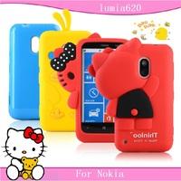 Free shopping for Nokia Lumia 620 case mobile phone case for nokia lumia 620 protective case cell phone case silica gel set