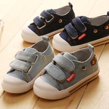 kostenloser versand hochwertiger mode denim Skateboarding kinder schuhe frühjahr baby lässig und segeltuchschuhe kleinkind schuhe(China (Mainland))