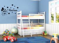 Mickey Mouse Cartoon  kids bedroom vinyl wall sticker customized sticker home decor