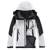 Hot sales! 2014 Fashion brand Spring Autumn Men's sports coat Hoodie jacket Outdoor Waterproof fleece Softshell Climbing clothes