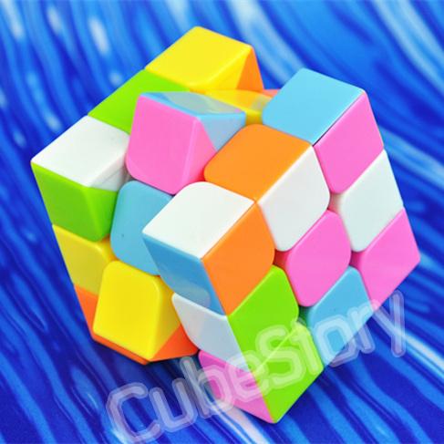 Yongjun moyu yulong 3*3*3 strati cubo magico 57mm( stickerless 6- colore) 3x3x3 cubo della velocità