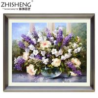 Diy diamond painting square drill diamond rhinestone pasted painting purple lavender vase