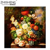 Diy diamond painting Rich flowers Flourishing Fang full diamond drilling Princess Wishes Painting the living room