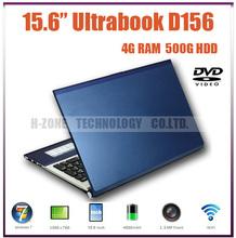"DHL Freeshipping 15.6"" Dual Core Laptop Computer 1.86GHz Atom D2500 500GB HDD DDR3 4GB RAM DVD Windows7 OS HDMI Wifi Bluetooth(Hong Kong)"