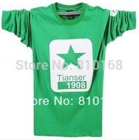 Hot Tops long Sleeve Clothing Men's T shirt Brand Men T-Shirts Man ,Round Neck T-shirts Fashion O-neck SaleFree Shipping