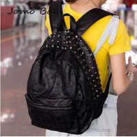 2014 new arrive WOMEN'S  popular fashion skull double shoulder school bag rivet skull vintage female bags unisex bag  z236