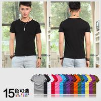 Short-sleeve Man t shirt 2014 New Fashion DIY Advertising T-shirt Cotton Men's Tees Free Shipping Men's Clothing Tops O-Neck