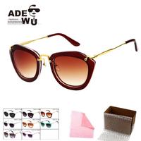 Free Shipping Cat Eye Sunglasses Women Elegant Brand New Female Sun Glasses oculos de sol Eyewear Innovative Items