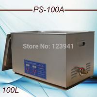 AC110V/220V  40KHz 600W PS-100A Ultrasonic Cleaner 30L drainage valves for hardware parts, PCB,medical washing