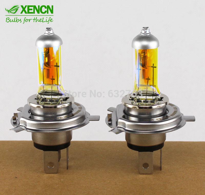 New XENCN H4 12V 60/55W 2300K Golden Super Xenon Yellow Light Bulbs Car Halogen Headlight Long Lifetime Auto Lamp 2PCS(China (Mainland))