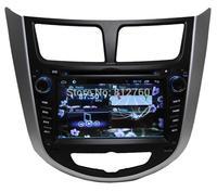 Android 4.2 Car DVD Player for Hyundai Verna Solaris Capacitive screen GPS Navigation Ipod BT TV Radio RDS Wifi 3G Free shipping