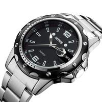 Skone 7147 men full steel watch fashion quartz men sports watches top mens luxury brand designer wristwatch male clock relogio