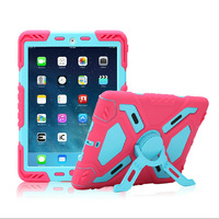 New Version Hybrid Armor Waterproof Shockproof Dustproof Kids Safe Stand Case Cover For ipad mini 1/2/3 ipad 2 3 4 Air Shell