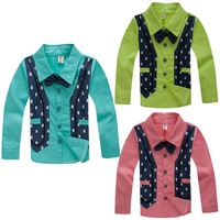 Boy coat Children's clothing fashion child spring 2014 child baby shirt fashion clothing shirt kid