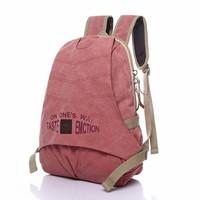 women backpack vintage style washed canvas laptop bag travel bag school backpack